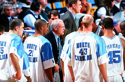 Bill Guthridge UNC Basketball Timeout