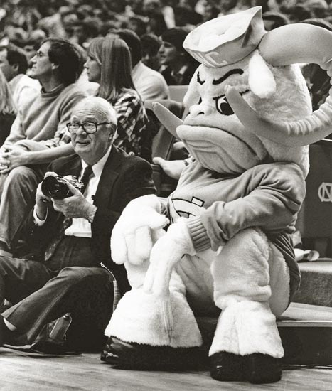 Hugh Morton With Rameses