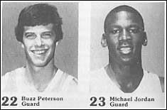 Michael Jordan-Buzz Peterson UNC Basketball