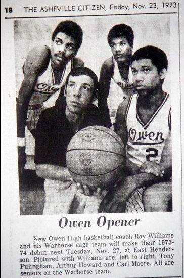 Roy Williams 1973 Owen High