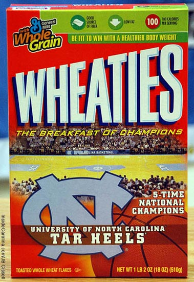 UNC Wheaties Box 2007