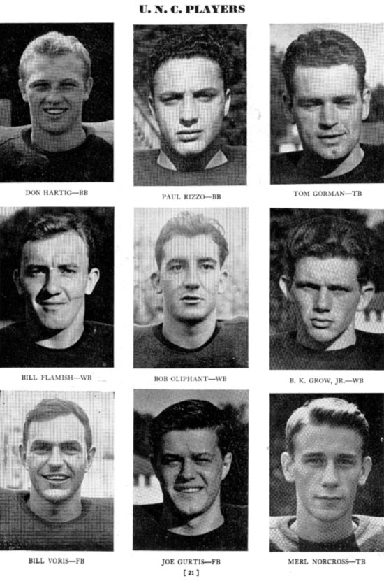 1946 UNC Football Players