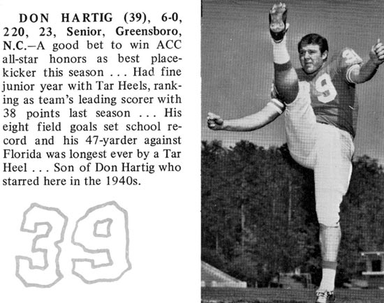 Don Hartig Jr UNC 1968