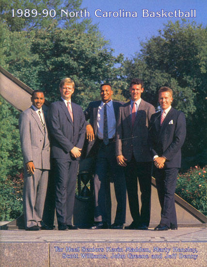 Photo: 1990 UNC Basketball Media Guide - Tar Heel Times