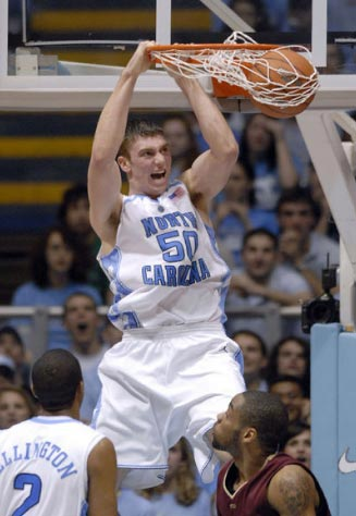 Photo: Tyler Hansbrough FSU Dunk - Tar Heel Times