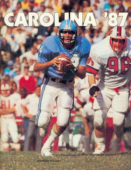 Photo: 1987 UNC Football Media Guide - Tar Heel Times